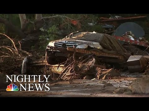 After Devastating Mudslides, Californians Search For The Missing   NBC Nightly News