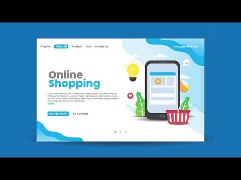 Online Shop Web Design Speed Art - Adobe Illustrator