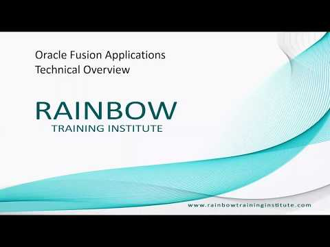 Oracle Fusion Technical Online Training - YouTube