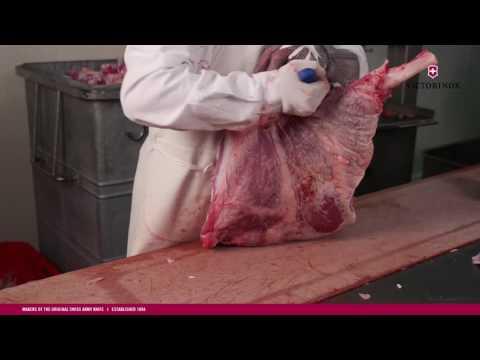 VICTORINOX Berufs-/Metzgermesser im Einsatz bei der Kalbfleisch-Verabeitung