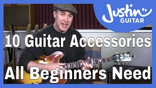 10 Accessories Beginner Guitarists Should Buy Before They Start