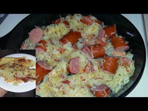 Video Cast Iron Cooking Kielbasa And Sauerkraut Recipe