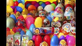 Киндер Сюрпризы,Unboxing Kinder Surprise Eggs Мега Сборник Скуби-Ду,Дисней Тачки,Barbie