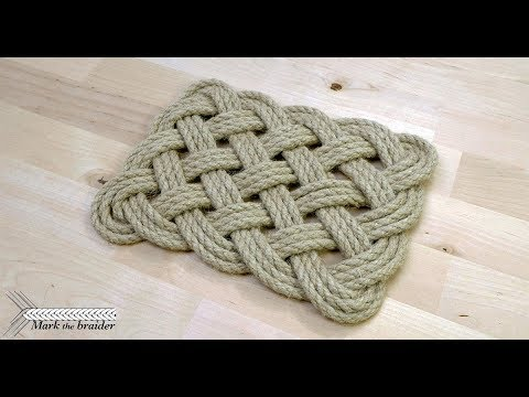 Rectangular rope mat