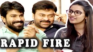 Niharika Rapid Fire Questions With Chiranjeevi and Ramcharan   Silly Monks
