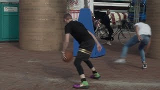 Professor sends dude FLYING off the court with cross in Den Helder, Netherlands(Europe)