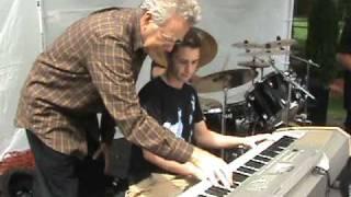Ray Manzarek, The Doors, plays keyboard with Nick