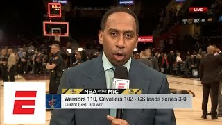 Stephen A. hyped over Kevin Durant's Game 3: He was an absolute superstar | NBA at the Mic | ESPN