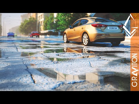 create wet asphalt pbr materials using 3ds max