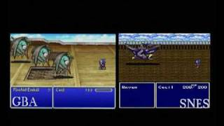 Final Fantasy IV -  GBA - SNES Comparison