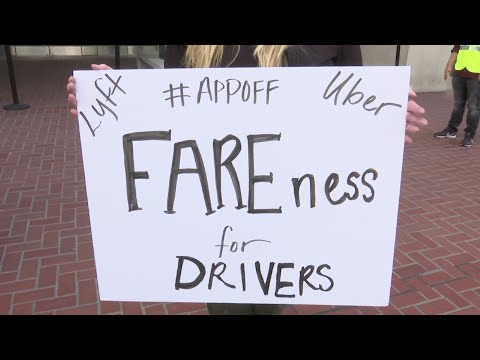 Drivers for Uber turned off their app to protest what they say are declining wagesahead of Uber's initial public stock offering, expected to raise billions for the ride-hailing giant.(May 8)