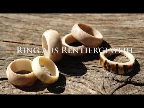 "Ring aus Rentiergeweih drechseln - Reindeer Antler Ring (""woodturning"")"