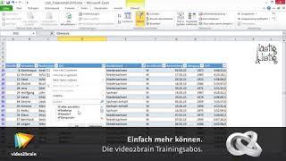 Excel 2010 - Daten filtern