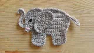 How To Crochet An Elephant Application Applique