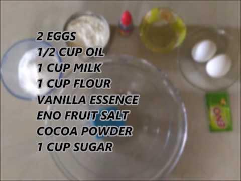 Video Easy chocolate sponge cake recipe   fresh cream   eno fruit salt  egg   pressure cooker