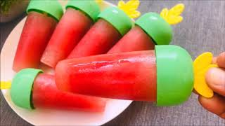 Watermelon Popsicle | Summer Special Recipes | How To Make Chocolate Watermelon Pops Fruit Popsicles