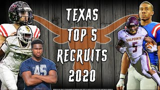 Texas Longhorns 2020 Top 5 Recruits Are ANIMALS!!! L Sharpe Sports