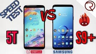 Samsung Galaxy S9+ VS OnePlus 5T SPEED TEST - Snapdragon 845 VS 835