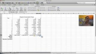 Calculating Mean, Median, Mode, &  Standard Deviation in Excel
