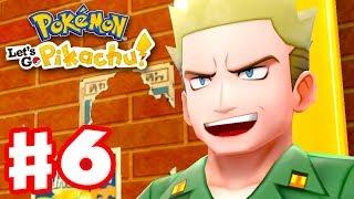 Pokemon Let's Go Pikachu and Eevee - Gameplay Walkthrough Part 6 - Gym Leader Lt. Surge!