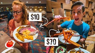 Comparing the CHEAPEST vs MOST EXPENSIVE Las Vegas Buffet! - Is it worth it??