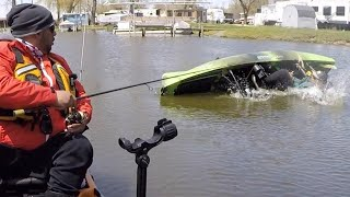 Crappie Fishing When My Friend Capsized His Kayak!!! (GREAT Kayak Recovery & Re-Entry)