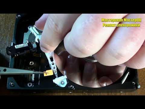 Замена головки БМГ жесткого диска WD Western Digital серии EZEX в реальном времени за 5 минут