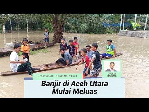Banjir Luapan di Aceh Utara Mulai Meluas