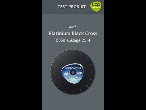 Tests du disque Black Cross Ø350 de LCP Diamant dans un rail de chemin de fer