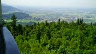 preview picture of video 'Blick vom Turm Fremersberg'