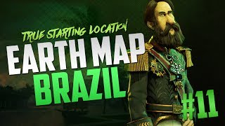 Civilization 6 Brazil Earth Map True Start Location Let's Play [Pt. 11]
