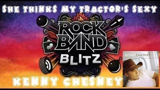 Kenny Chesney - She Thinks My Tractor's Sexy - Rock Band Blitz Playthrough (5 Gold Stars)