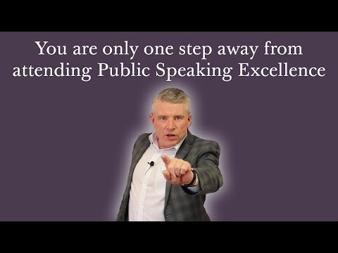 Take the next step, join us for Public Speaking Excellence with NLP