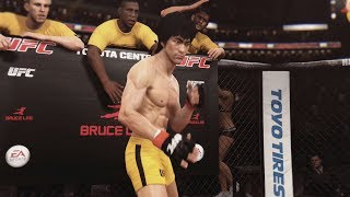 EA UFC (PS4): Bruce Lee vs Urijah Faber (Featherweight) 5 Rounds - Toyota Center
