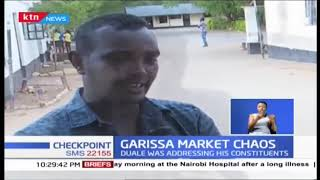Aden Duale forced to cut speech as his supporters and Korane clash over Garissa Market renovation