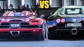 Koenigsegg Agera R vs Bugatti Veyron - Sound Battle!