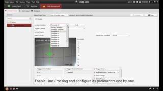 How to setup line crossing detection on a Hikvision IP Camera using iVMS 4200