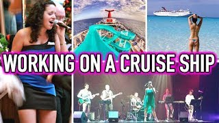 LIFE AS A CRUISE SHIP SINGER | Working For Carnival Cruise Lines | My Story