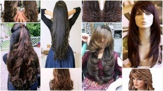 Long Hair Cutting Ideas... Top 50 Layer Haircut,front And Back Layerss