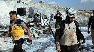Russian airstrikes in Syria's rebel-held Idlib