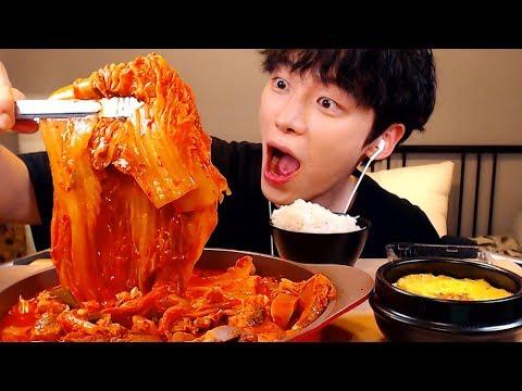 【Mukbang】통 돼지김치찜과 흰밥에 계란찜 먹방|한식|キムチ蒸し|steamed pork kimchi Real Eating Sounds Show [SIO ASMR 시오]