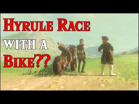 Hyrule RACE with a BIKE?? Royal Family Link in Zelda Breath of the Wild DLC