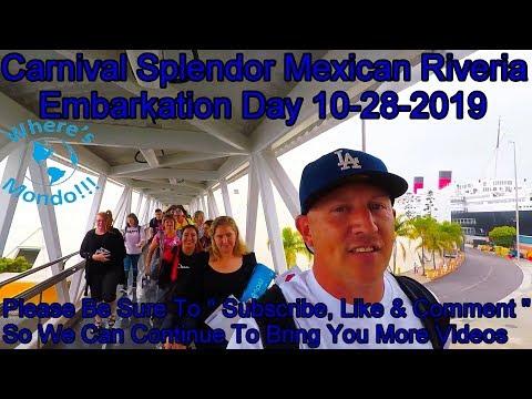 Carnival Splendor Mexican Riveria Embarkation Day 9-28-2019