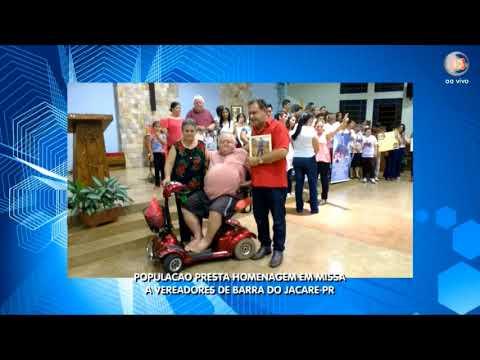 População presta Homenagem em Missa a Vereadores de Barra do Jacare-PR