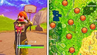"""""""Score a Basket on Different Hoops"""" Locations Fortnite Week 2 Challenges Basketball Hoop Locations!"""