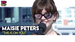 "Maisie Peters Does A Rooftop Performance Of ""This Is On You""!"