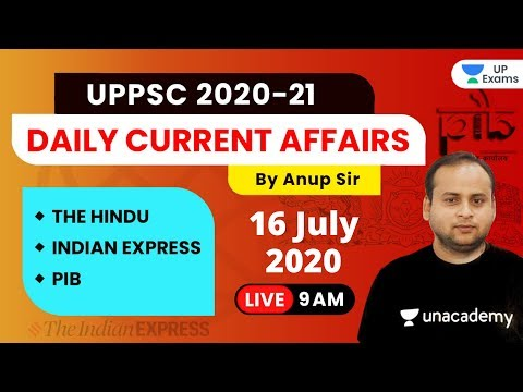 Current Affairs Today | 16 July 2020 | The Hindu Editorial & PIB Analysis by Anup Sir