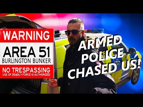 UK's Area 51 Burlington Bunker (Armed Police Chase)