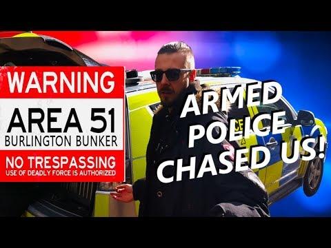 UK's Area 51 Burlington Bunker (Armed Police Chase)