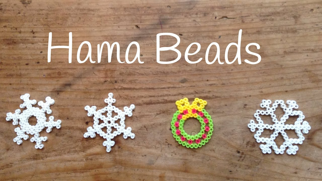 Hama beads de Navidad - Corona navideña
